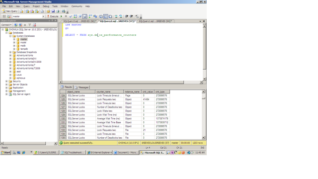 select sys query